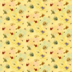 """Ткань для пэчворк (50x55см) 23259GOL из коллекции """"Дом, милый дом"""" """"SPX Fabrics"""" (США)"""