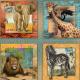 """Ткань для пэчворк (74x110см) 24884MUL из коллекции """"African Safari"""" """"SPX Fabrics"""" (США)"""