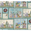 """Ткань для пэчворк (60x110см) 24892MUL из коллекции """"Dream garden"""" """"SPX Fabrics"""" (США)"""