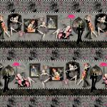 """Ткань для пэчворк (75x110см) 25098GRY из коллекции """"Dance and romance"""" """"SPX Fabrics"""" (США)"""