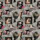 """Ткань для пэчворк (60x110см) 25099GRY из коллекции """"Dance and romance"""" """"SPX Fabrics"""" (США)"""