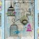"""Ткань для пэчворк (60x110см) 25302BLU из коллекции """"Song birds"""" """"SPX Fabrics"""" (США)"""