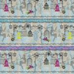 """Ткань для пэчворк (60x110см) 25303MUL из коллекции """"Song birds"""" """"SPX Fabrics"""" (США)"""