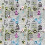 """Ткань для пэчворк (60x110см) 25304GRY из коллекции """"Song birds"""" """"SPX Fabrics"""" (США)"""