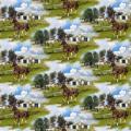 """Ткань для пэчворк (60x110см) 25323MUL из коллекции """"World of Horses"""" """"SPX Fabrics"""" (США)"""