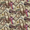 """Ткань для пэчворк (50x55см) 25324BEI из коллекции """"World of Horses"""" """"SPX Fabrics"""" (США)"""