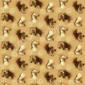 """Ткань для пэчворк (50x55см) 25327GOL из коллекции """"World of Horses"""" """"SPX Fabrics"""" (США)"""