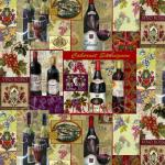 "Ткань для пэчворк (60x110см) 25332MUL из коллекции ""Wine country"" ""SPX Fabrics"" (США)"