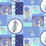 """Ткань для пэчворк (60x110см) 25357BLU из коллекции """"Хобби Холли"""" """"SPX Fabrics"""" (США)"""