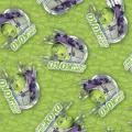 """Ткань для пэчворк (60x110см) 25372GRE из коллекции """"Chuggington"""" """"SPX Fabrics"""" (США)"""