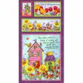 """Ткань для пэчворк (60x110см) 25478MUL из коллекции """"Birdhouse gardens"""" """"SPX Fabrics"""" (США)"""