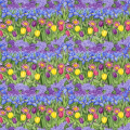 """Ткань для пэчворк (50x55см) 25482MUL из коллекции """"Birdhouse gardens"""" """"SPX Fabrics"""" (США)"""