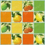 """Ткань для пэчворк (60x110см) 25486MUL из коллекции """"Citrus Grove"""" """"SPX Fabrics"""" (США)"""