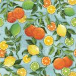"""Ткань для пэчворк (60x110см) 25487BLU из коллекции """"Citrus Grove"""" """"SPX Fabrics"""" (США)"""