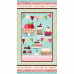 "Ткань для пэчворк (60x110см) 25492MUL из коллекции ""Sugary sweet"" ""SPX Fabrics"" (США)"