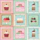 "Ткань для пэчворк (60x110см) 25493MUL из коллекции ""Sugary sweet"" ""SPX Fabrics"" (США)"