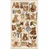 """Ткань для пэчворк (60x110см) 25501MUL из коллекции """"ABC Bears"""" """"SPX Fabrics"""" (США)"""