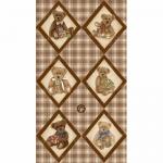 """Ткань для пэчворк (60x110см) 25502BRO из коллекции """"ABC Bears"""" """"SPX Fabrics"""" (США)"""
