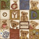 """Ткань для пэчворк (60x110см) 25503MUL из коллекции """"ABC Bears"""" """"SPX Fabrics"""" (США)"""