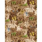 """Ткань для пэчворк (60x110см) 25504MUL из коллекции """"ABC Bears"""" """"SPX Fabrics"""" (США)"""