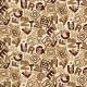 """Ткань для пэчворк (50x55см) 25505BRO из коллекции """"ABC Bears"""" """"SPX Fabrics"""" (США)"""