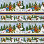 """Ткань для пэчворк (60x110см) 25540MSMUL из коллекции """"Snow bears"""" """"SPX Fabrics"""" (США)"""