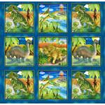 "Ткань для пэчворк (60x110см) 26424MUL из коллекции ""Dino Might"" ""SPX Fabrics"" (США)"