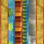 "Ткань для пэчворк (60x110см) 26427MUL из коллекции ""Dino Might"" ""SPX Fabrics"" (США)"