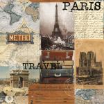 """Ткань для пэчворк (60x110см) 2503-394 из коллекции """"Paris"""" """"Stof"""" (Дания)"""