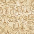 """Ткань для пэчворк (50x55см) 2503-398 из коллекции """"Paris"""" """"Stof"""" (Дания)"""