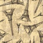 """Ткань для пэчворк (50x55см) 2503-401 из коллекции """"Paris"""" """"Stof"""" (Дания)"""