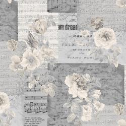 """Ткань для пэчворк (50x55см) 4500-125 из коллекции """"Piano Forte"""" """"Stof"""" (Дания)"""
