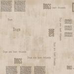 "Ткань для пэчворк (50x55см) 4500-150 из коллекции ""My best friend"" ""Stof"" (Дания)"