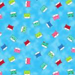 """Ткань для пэчворк (50x55см) 4500-239 из коллекции """"Down town kitty"""" """"Stof"""" (Дания)"""