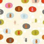 "Ткань для пэчворк (50x55см) 4500-275 из коллекции ""Daydreamers"" ""Stof"" (Дания)"