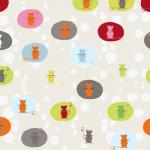 "Ткань для пэчворк (50x55см) 4500-276 из коллекции ""Daydreamers"" ""Stof"" (Дания)"