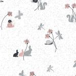 """Ткань для пэчворк (50x55см) 4500-565 из коллекции """"Hollies Flowers"""" """"Stof"""" (Дания)"""