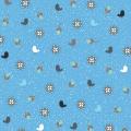 """Ткань для пэчворк (50x55см) 4500-566 из коллекции """"Hollies Flowers"""" """"Stof"""" (Дания)"""