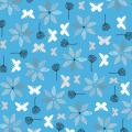 """Ткань для пэчворк (50x55см) 4500-569 из коллекции """"Hollies Flowers"""" """"Stof"""" (Дания)"""