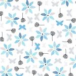 """Ткань для пэчворк (50x55см) 4500-570 из коллекции """"Hollies Flowers"""" """"Stof"""" (Дания)"""