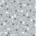 """Ткань для пэчворк (50x55см) 4500-573 из коллекции """"Hollies Flowers"""" """"Stof"""" (Дания)"""