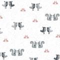 """Ткань для пэчворк (50x55см) 4500-575 из коллекции """"Hollies Flowers"""" """"Stof"""" (Дания)"""