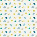 """Ткань для пэчворк (50x55см) 4500-647 из коллекции """"Rocking horses"""" """"Stof"""" (Дания)"""