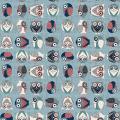 """Ткань для пэчворк (50x55см) 4500-833 из коллекции """"Hush-a-Bye Woods"""" """"Stof"""" (Дания)"""