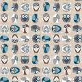 """Ткань для пэчворк (50x55см) 4500-835 из коллекции """"Hush-a-Bye Woods"""" """"Stof"""" (Дания)"""
