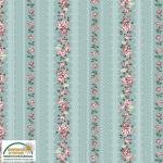"""Ткань для пэчворк (50x55см) 4501-044 из коллекции """"Emily roses"""" """"Stof"""" (Дания)"""
