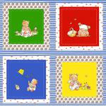 """Ткань для пэчворк (60x110см) 4503-355 из коллекции """"Bobbis picnic"""" """"Stof"""" (Дания)"""