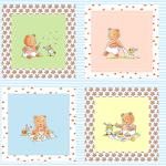 """Ткань для пэчворк (60x110см) 4503-356 из коллекции """"Bobbis picnic"""" """"Stof"""" (Дания)"""