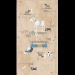 "Ткань для пэчворк (60x110см) 4505-081 из коллекции ""My best friend"" ""Stof"" (Дания)"