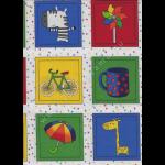 "Ткань для пэчворк (60x110см) 4505-085 из коллекции ""Memory fun"" ""Stof"" (Дания)"
